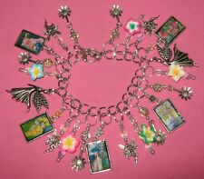"""FLOWER FAIRIES""-CHARM BRACELET -ONE OF A KIND  HAND MADE"