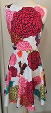 NWT ARYEH Size Small White Flirty Dress Butterfly Print