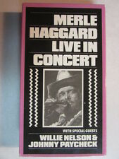 MERLE HAGGARD LIVE IN CONCERT 1991 HTF OOP VHS VIDEO NTSC COUNTRY MUSIC LEGEND