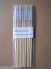 10 x no.4 short round artist bristle paint brush painting brushes