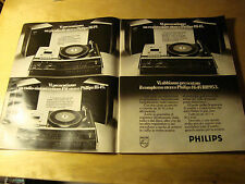 PUBBLICITA' ADVERTISING WERBUNG 1977 PHILIPS STEREO HI-FI RH953 (E1385)