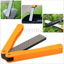 "DMD 5"" Double Sided Folded Pocket Diamond Knife Sharpening Stone Sharpener Tool"