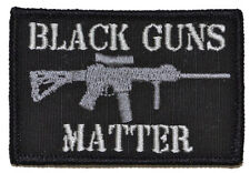 BLACK GUNS MATTER USA ARMY TACTICAL MILITARY MORALE BADGE Embroidery HOOK PATCH