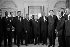 Civil Rights Leaders John F. Kennedy,Martin Luther King Jr,Roy Wilkins 1963