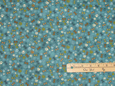 Pet Rescue Teal Dog Paws & Bones Dogs Fabric by the 1/2 Yard  BTHY  #8483