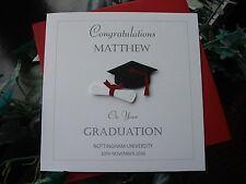 Personalised handmade graduation carte