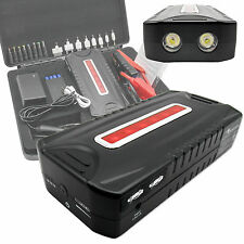 12V/24V Portable Auto Car Jump Starter Power Bank Battery Charger Booster LED