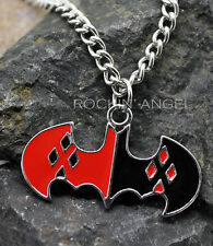925 Silver Plated Harley Quinn Colgante Collar Ladies Girls Regalo Batman Dc