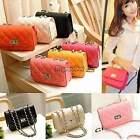 Retro Damentasche Leder Handtasche Umhängetasche Shopper Tote Messenger Tasche