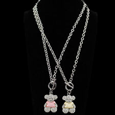 Women New Cute Teddy Bear Color Clothing Pendant Necklace Ship To US & Worldwide