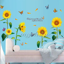 US Flowers Removable Wall Stickers Decal Art Vinyl Flower Mural Home Room Decor