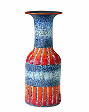 Vintage FF Fanciullacci Italian Art Pottery Incised Carved Vase Raymor Netter