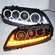 For MAZDA 6 LED Angel Eyes LED Headlights Front Lamps DRL 2004 to 2011 Year JC