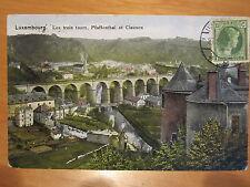 NR. 721 / Luxembourg Les trois tours Pfaffenthal et Clausen gelaufen 1933