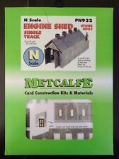 Metcalfe Kit  PN932. Engine Shed. Single Track. Stone Built.  N Scale.