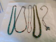 Vintage Turquoise Necklace Lot Native American Style Jewelry Estate Fresh Find