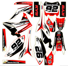 Rojo MX Decal Sticker Kit En Vinilo Mx Se Ajusta Honda CRF450 2013 2014 (no OEM)
