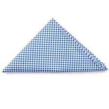 Tiesrus homme bleu clair carreaux blancs Mouchoir carré poche de mariage