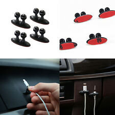 8x Adhesive Car Charger Line Clasp Phone/USB Wire Cord Cable Drop Clip Holder