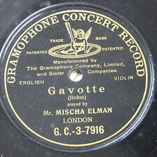 78rpm MISCHA ELMAN bohm - gavotte, single sided
