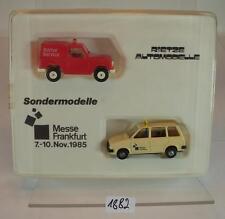 Rietze 1/87 Sondermodelle Messe Frankfurt 1985 Mitsubishi & Nissan OVP #1882