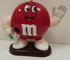 "Vintage 1993 M&Ms Candy Dispenser Red ~ 8.5"" Mars Inc. Collectible"