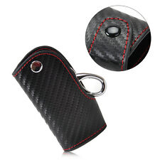 Carbon Fiber 3D Leather Remote Smart Key chain keyless Holder for Audi BMW Honda