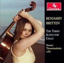 Saeunn Thorsteindottir: Benjamin Britten: Three Suites for Cello  Audio CD