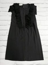 Ruffles Galore: Marni Winter Edition 2010 Black Ruffle Trim Dress IT44/UK12