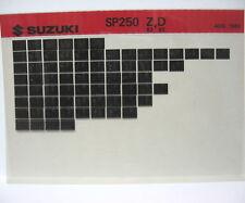 Suzuki SP250 1982 1983 Parts Microfiche s241