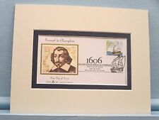 Samuel de Champlain explores America and his First Day Cover of his own stamp