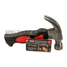 New KING 8 Oz Stubby Claw Hammer w/ Fiberglass Handle, Steel, Small Hand Tool