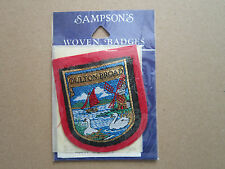 Oulton Broad (Red Backing) Sampson's Woven Cloth Patch Badge
