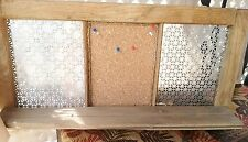 Reclaimed Vintage~Window Frame~Shelf w/Cork Board/Metal Hook area~Message Center