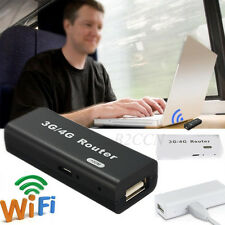Mini Portable 3G/4G WiFi Wlan Hotspot AP Client 150Mbps RJ45 USB Wireless Router