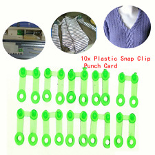 10x Green Plastic Snap Clip Punch Card Silver Reed For Brother Knitting Machine