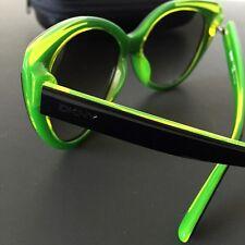 DKNY Women's DY4125 Cat-eye Sunglasses Black Green 57mm 16-140 NWT Case