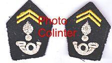 Officier de Chasseurs - Ecussons de col pour veste mle 52/58 - soutaches courtes