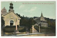 Old Church and Scala Santa, Ste. Saint Anne de Beaupre QC Vintage QuebecPostcard