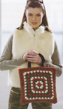 Crochet Pattern ~ LADIES FUNKY FELTED GRANNY BAG ~ Purse - Instructions