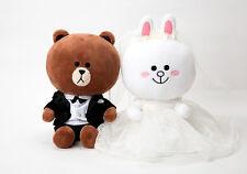 Korea LINE Friends Brown Cony Wedding 25cm Plush Doll Mascot Gift Limited Set