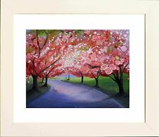 Blossom Path Picture in White Frame - Print from original by Keri Manning-Dedman
