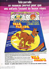 PUBLICITE ADVERTISING 065  1978  JOURNAL pour enfants TELE-PARADE  SCOUBIDOU