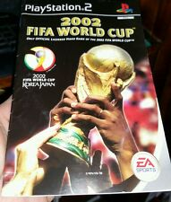 BOOKLET/MANUAL ONLY FOR 2002 FIFA WORLD CUP  PS2 (NO GAME) -  FREE POST