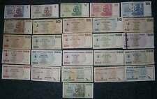 [17699] - 26 verschiedene BANKNOTEN ZIMBABWE: 1 $ - 10 TRILLION - HYPERINFLATION