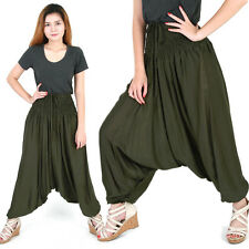 Aladdin Harem Pants Trousers Genie Hippy Hippie Boho Green al078t