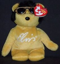 TY ELVIS SOLID GOLD BEANIE the BEAR BEANIE BABY - MINT with MINT TAG