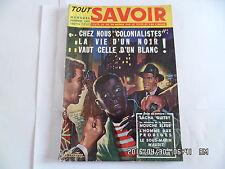 TOUT SAVOIR N°31 DECEMBRE 1955 SACHA GUITRY ILE MAURICE    J75