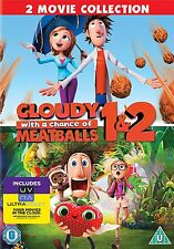 CLOUDY WITH A CHANCE OF MEATBALLS 1 & 2 - DVD - REGION 2 UK