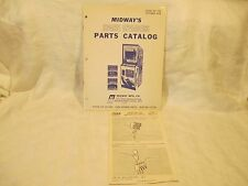 Midway SPACE INVADERS 1978 Video Arcade Game Operators Service Parts Catalog